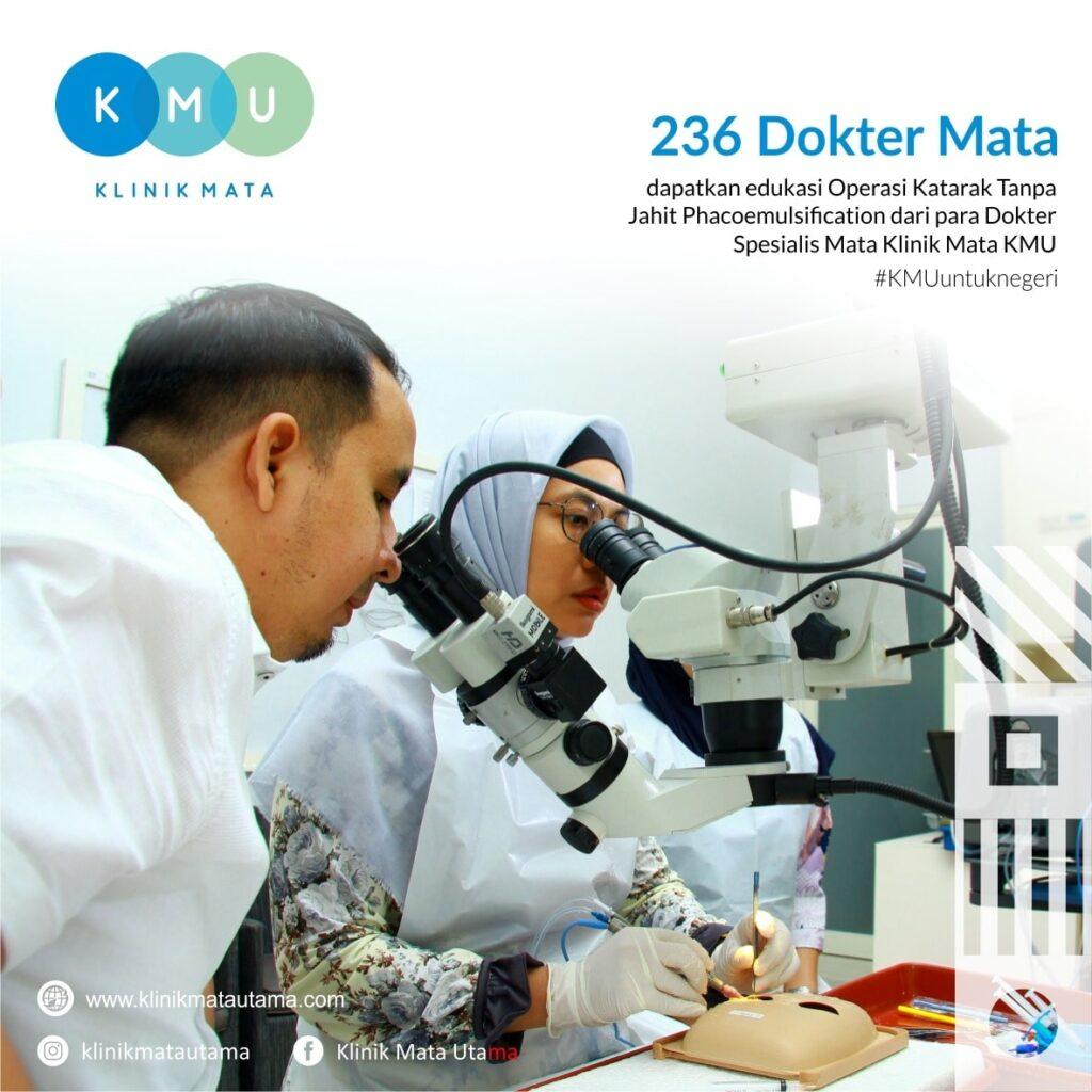 Edukasi Operasi Katarak Phaco oleh dokter mata KMU