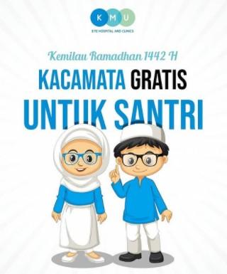 Kacamata gratis untuk santri